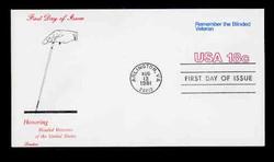 U.S. Scott #U600 18c Blinded Veteran Envelope First Day Cover.  Lorstan cachet.