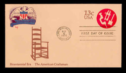U.S. Scott #U575 13c Bicentennial - American Craftsman Envelope First Day Cover.  MARG cachet.