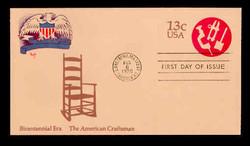 U.S. Scott #U575 13c Bicentennial - American Craftsman Envelope First Day Cover.  MARG cachet.