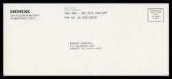 A.G. Siemens Test Mailpiece