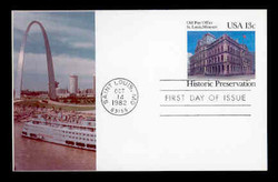 U.S. Scott #UX 97 13c Old St. Louis P.O. Postal Card First Day Cover.  Sarzin Quadrocolorplus cachet.