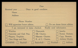 Dieges & Clust, Catalog Request Form (On Scott #UX27) - Est. period of use, 1940s.
