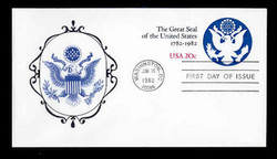 U.S. Scott #U602 20c Great Seal Envelope First Day Cover.  New Direxions cachet.
