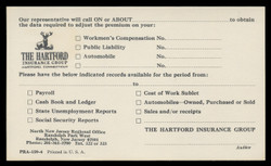 Hartford Insurance Company, Represntative Will Call (On Scott #UX66) - Est. period of use, mid 1970s.