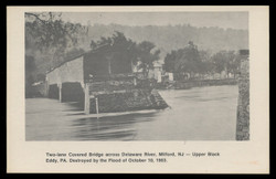 Washington Crossing Card Collectors Club, Photo of Two-lane Covered Bridge, Milford (On Scott #UX74) - Est. period of use, 1978.