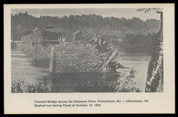 Washington Crossing Card Collectors Club, Photo of Covered Bridge, Frenchtown (On Scott #UX74) - Est. period of use, 1978.