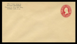 U.S. Scott # U 412/13, UPSS #1770/15 1907-16 2c Washington, carmine on amber, Die 1 - Mint (See Warranty)