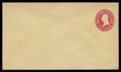 U.S. Scott # U 412c/08, UPSS #1812/15 1907-16 2c Washington, carmine on amber, Die 4 - Mint (See Warranty)