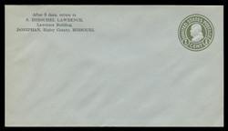 U.S. Scott # U 423/10, UPSS #2102/28 1915-32 1c Franklin, green on blue, Die 1 - Mint (See Warranty)