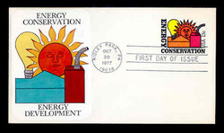 U.S. Scott #U584 13c Energy Conservation Envelope First Day Cover.  Sarzin Quadrocolorplus cachet.