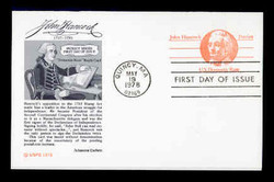 U.S. Scott #UY29 (10c) Paul Revere Reply Card First Day Cover.  Aristocrat cachet.