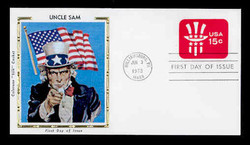U.S. Scott #U581 15c Uncle Sam Hat Envelope First Day Cover.  Colorano cachet.