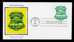 U.S. Scott #U582 13c Bicentennial Envelope First Day Cover.  Colorano cachet.