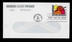 U.S. Scott #U585 13c Energy Development WINDOW Envelope First Day Cover.  Artmaster cachet.