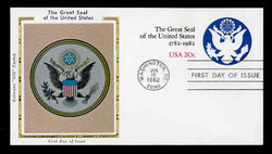 U.S. Scott #U602 20c Great Seal Envelope First Day Cover.  Colorano cachet.