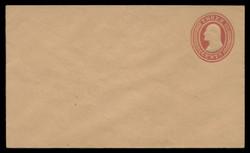 U.S. Scott # U  10/07, UPSS #18/01 1853-55 3c Washington, red on buff, Die 5 - Mint (See Warranty)
