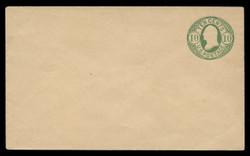 U.S. Scott # U  41/07, UPSS #97/01 1861 10c Washington, yellow green on buff - Mint (See Warranty)