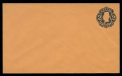 U.S. Scott # U  52/07, UPSS #110/01 1863-4 2c Jackson, Die 3, black on orange - Mint (See Warranty)