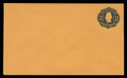 U.S. Scott # U  56/07, UPSS #116a/01 1863-4 2c Jackson, Die 4, black on orange - Mint (See Warranty)