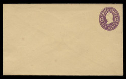 U.S. Scott # U  65/07, UPSS #133/01 1864-5 6c Washington, purple on buff - Mint (See Warranty)