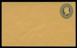 U.S. Scott # U  76/07, UPSS #149/02 1870-1 1c Franklin, blue on orange - Mint (See Warranty)