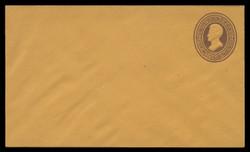 U.S. Scott # U  80/07, UPSS #161/02 1870-1 2c Franklin, brown on orange - Mint (See Warranty)