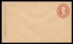 U.S. Scott # U  87/07, UPSS #215/02 1870-1 6c Lincoln, dark red on cream - Mint (See Warranty)