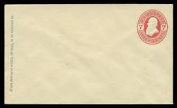 U.S. Scott # U  88/07, UPSS #222/02 1870-1 7c Stanton, vermilion on cream - Mint (See Warranty)