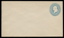 U.S. Scott # U 113/06, UPSS #263/05 1874-86 1c Franklin, Die 2,  light blue on white - Mint (See Warranty)