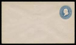 U.S. Scott # U 113/08, UPSS #265/06 1874-86 1c Franklin, Die 2,  light blue on white - Mint (See Warranty)