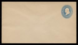 U.S. Scott # U 113/10, UPSS #266/06 1874-86 1c Franklin, Die 2,  light blue on white - Mint (See Warranty)