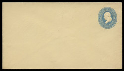 U.S. Scott # U 114/10, UPSS #273/06 1874-86 1c Franklin, Die 2,  light blue on amber - Mint (See Warranty)