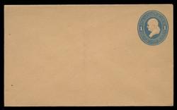 U.S. Scott # U 115/07, UPSS #274/05 1874-86 1c Franklin, Die 2,  light blue on cream - Mint (See Warranty)