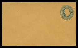 U.S. Scott # U 116/07, UPSS #278/02 1874-86 1c Franklin, Die 2,  light blue on orange - Mint (See Warranty)