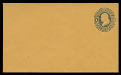 U.S. Scott # U 116a/07, UPSS #278b/02 1874-86 1c Franklin, Die 2,  dark blue on orange - Mint (See Warranty)