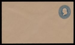 U.S. Scott # U 118/08, UPSS #285/06 1874-86 1c Franklin, Die 2,  light blue on fawn - Mint (See Warranty)