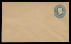 U.S. Scott # U 119/07, UPSS #286/07 1874-86 1c Franklin, Die 2,  light blue on manila - Mint (See Warranty)
