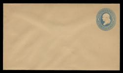 U.S. Scott # U 119/08, UPSS #287/07 1874-86 1c Franklin, Die 2,  light blue on manila - Mint (See Warranty)