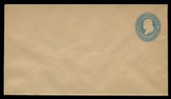 U.S. Scott # U 119/10, UPSS #288/07 1874-86 1c Franklin, Die 2,  light blue on manila - Mint (See Warranty)