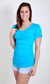 Short Sleeved Soho Chic Maternity Nursing Top
