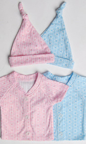 Preemie Shirt & Cap  - 3 Pack