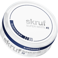 Skruf Super White Slim Nicotine Pouches - Björnbär (Blackberry)