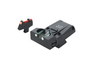 LPA TTF Fiber Optic Sight Set - Colt Government 1911-A1