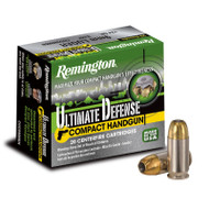 Remington Ultimate Defense Compact Handgun 9mm Luger 124gr BJHP per 20