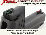 Dawson Precision Sig P Series Fixed Charger Sight Set - Fiber Optic Rear & Fiber Optic Front