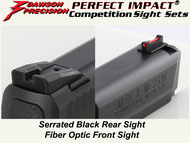 Dawson Precision S&W M&P Fixed Competition Sight Set - Black Rear & Fiber Optic Front
