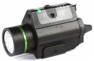 Vectop Optics Doublecross Tactical LED Pistol Flashlight Green Laser Combo