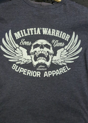 Militia Warrior Tshirt Grey