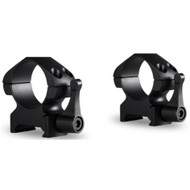 "Hawke 1"" Precision Steel High Scope Ring Mounts - 2 Piece, Weaver"