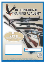 RPL (Recongnition Of Prior Learning) Manual (One Firearm)